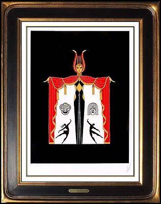 Erte Broadways In Fashion Embossed Serigraph Hand Signed Art Deco Costume Design