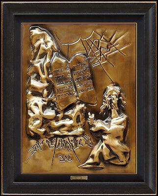 SALVADOR DALI Bronze SCULPTURE Wall Relief Signed Ten Commandments Surreal Art