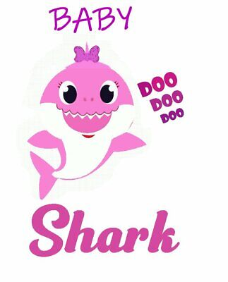 :::::::::::::::::BABY SHARK::::::::::::::::::::::T-SHIRT IRON ON - Transfer Iron