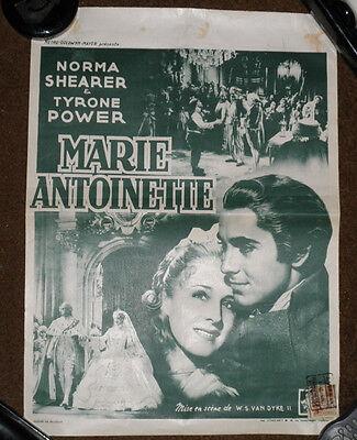 NORMA SHEARER TYRONE POWER Marie Antoinette Belgian 1950s Notice