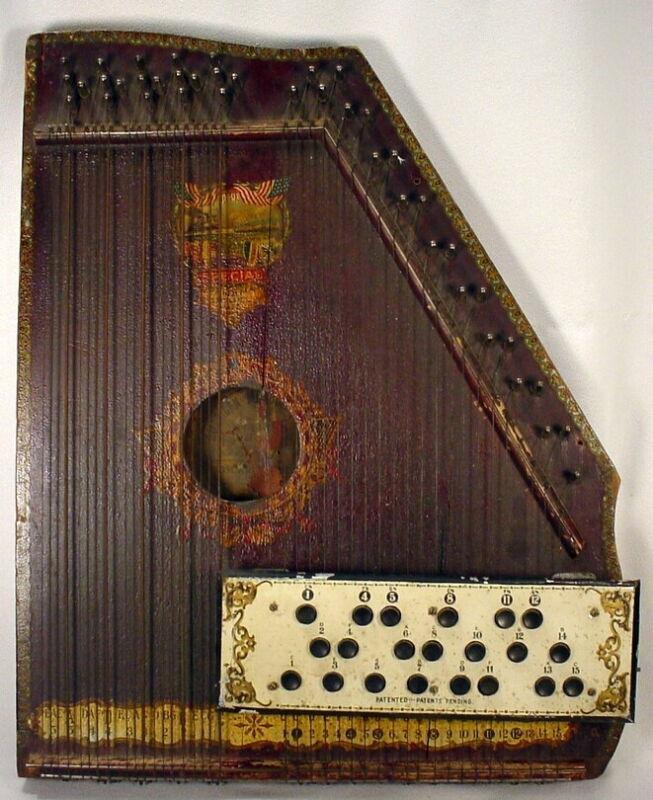 American Mandolin Harp Oscar Schmidt Panama Model 1915 Working Condition Antique