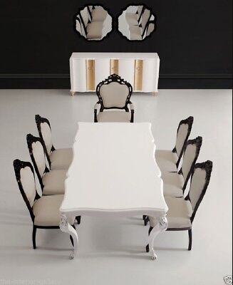 Modern Dining Room Table - Solid Birch Wood - White Dining Table - Angelina Birch Dining Room Table