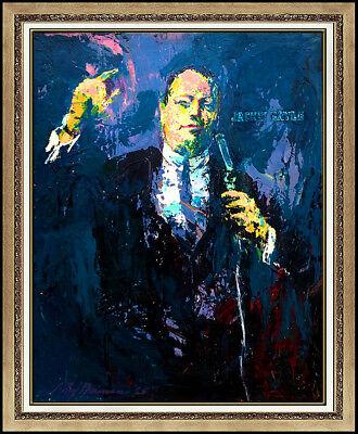 LeRoy Neiman Original Painting Oil on Board Large Jackie Gayle Signed Portrait