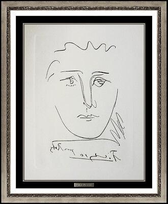 Pablo Picasso Etching Pour Ruby Tete Portrait Signed Authentic Cubism Artwork for sale  Minneapolis