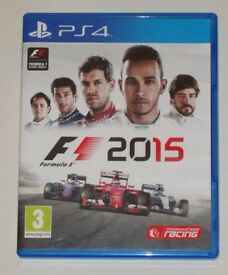 SONY PLAYSTATION PS4 GAME FORMULA 1 F1 2015 PAL 3 DOLBY DIGITAL HD CODEMASTERS.*
