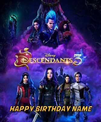 Personalized Cake Toppers (Descendants 3 Edible Image Cake Birthday Topper Party 1/4 Sheet)