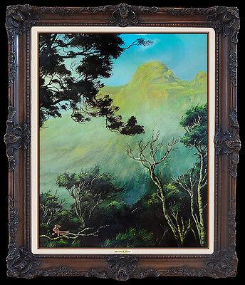Christian Lassen Oil Painting on Board Original Signed Hawaii Landscape Artwork