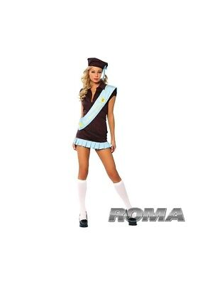 NEW! Roma Girl Scout Sexy Women's Cosplay Costume Halloween Dress Hat Sash - Girl Scout Kostüm
