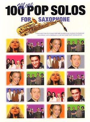 100 More Pop Solos for Saxophone aktuelle Pop Songs Noten für Saxofon u. Gitarre
