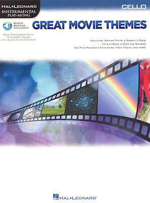 Great Movie Themes Play-Along Cello Violoncello Noten mit Download Code