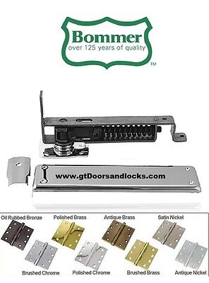 Bommer 7811-646 Horizontal Spring Pivot with Floor Plate US15 Satin Nickel