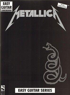 Metallica Black Album Easy Guitar Songbook Noten Tab für Gitarre leicht