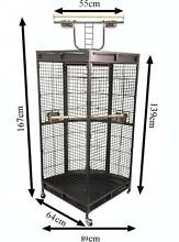 Corner Cage 167cm with gym bird cage aviary Riverwood Canterbury Area Preview