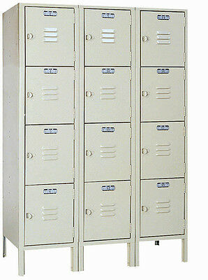 Lyon Standard Steel Gym School Athletic Industrial Metal Lockers 4 High 5352-3