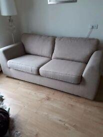Grey sofa , armchair & footstool for sale