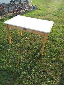 Antique enamel table