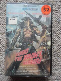 VHS Tape - 1990 The Bronx Warriors PAL Format Rare Norah Head Wyong Area Preview