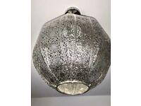 Moroccan Silver Lampshade