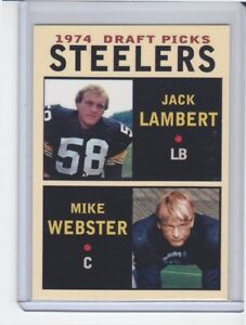 Jack Lambert / Mike Webster Pittsburgh Steelers '74 Draft Picks #3 rookie stars