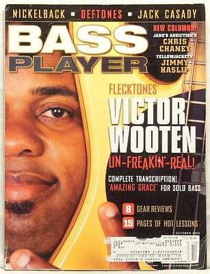BASS PLAYER MAGAZINE VICTOR WOOTEN GEAR REVIEWS DEFTONES JACK CASADY NICKELBACK for sale  Shipping to Canada