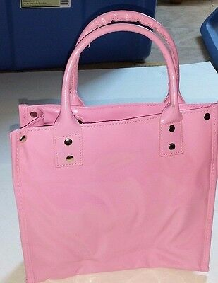 - Danielle Creations Pink Patent - Insulated PVC Lunch Tote Bag London Toronto