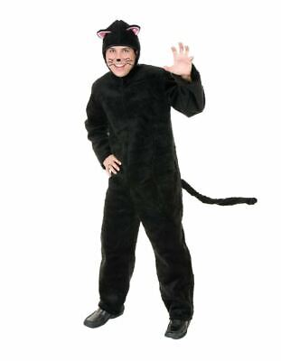 Plush Black Cat Costume Animal Adult Kitten Men Women Pet Unisex Plus Size 1x