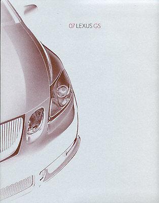 2007 Lexus GS GS430 GS350 GS450h Sales Brochure Book