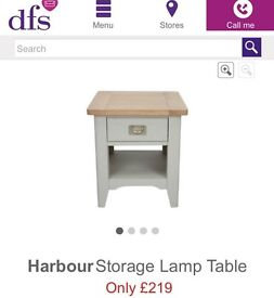 Grey side lamp table