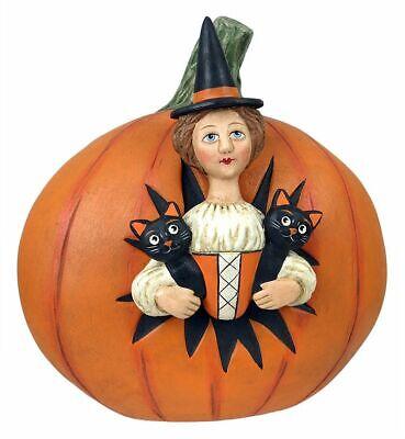 Halloween Captured in Pumpkin Witch Figurine Allen Cunningham Bethany Lowe New