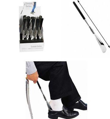 Calzador de Zapatos Metalico Extensible de 32 a 80 cm, empuñadura de...