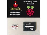 Toshiba 64GB MicroSD Card for Raspberry Pi 3 With RetroPie