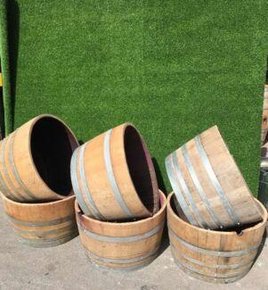 Half Wine Barrels - FREE DELIVERY BRISBANE