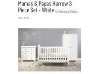 Mamas & Papas Harrow 3 Piece Set - White