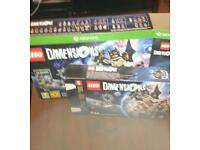 Xbox one Lego dimensions starter pack plus 4 sets