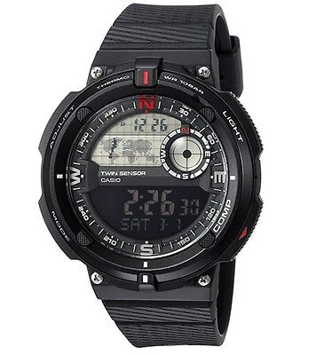 Casio SGW600H-1B,Digital Compass, Thermometer, Resin Watch, 5 Alarms, World Time