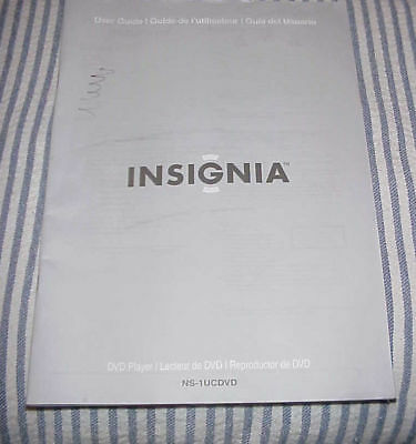 USER GUIDE === INSIGNIA NS-1UCDVD-  DVD Player