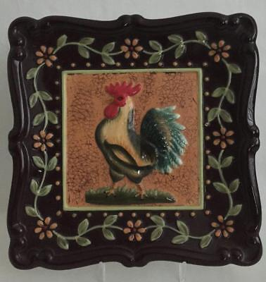 MWW Market Ceramic Rooster Plate 8-1/2