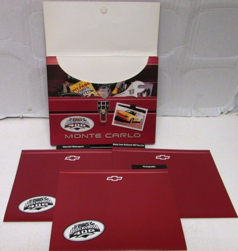 1997 Chevrolet Monte Carlo Brickyard 400 Pace Car Press Kit Indy Custom Envelope