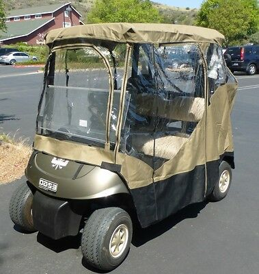 Golf cart driving enclosure for EZGO TXT, RXV  2 seater  - all weather