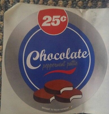 4 Chocolate Peppermint Pattie 25 Candy Vending Machine Stickers