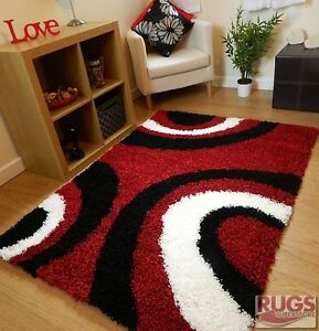 Black White Red Rug Ebay