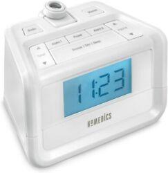 HoMedics SoundSpa Dual Alarm Digital FM Clock Radio,Time Projection Nature So...