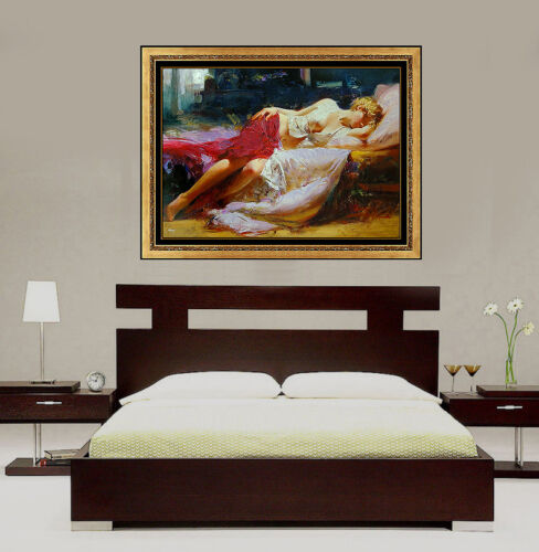 Pino Daeni Dreaming In Color Large Embellished Giclee On Canvas Signed Female