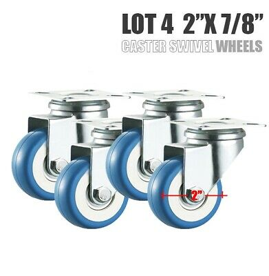 Heavy Duty Lot 4 2 Swivel Caster Wheels Rubber Base With Top Plate Bearing