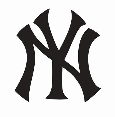 New York Yankees MLB Baseball Vinyl Die Cut Car Decal Sticker - FREE SHIPPING - Baseball Stickers