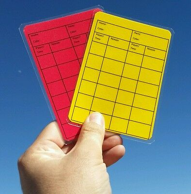 Soccer Referee Red/Yellow Card