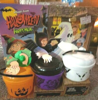 MCDONALDS HAPPY MEAL HALLOWEEN ,PUMPKIN  DISPLAY  COMPLETE GREAT - Halloween Meal