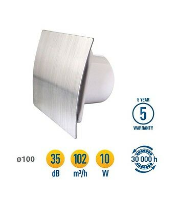 "Bathroom Extractor Fan with Timer Humidity Sensor 100mm / 4"" Humidistat WES100H"