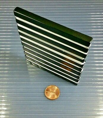 10 Neodymium Bar Block Magnet Strong Rare Earth N42h High Heat Grade 3 X 14