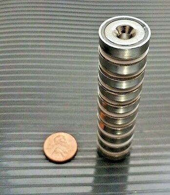 2 Neodymium Cup Magnets. Super Strong Rare Earth 34 X 14 Pull Force 20 Lbs